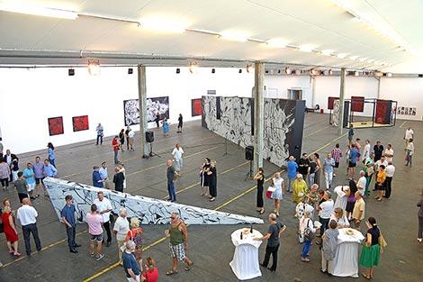 Hannes Mlenek bei Kunst an der Grenze